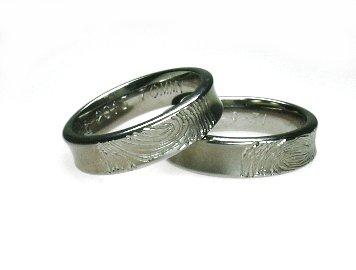 titanium vingerafdruk trouwring